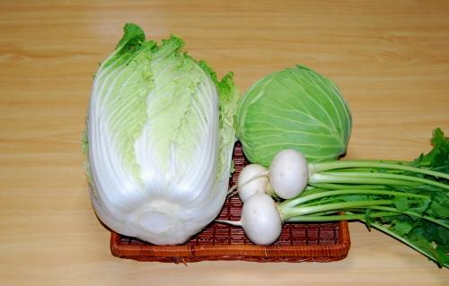s-10.11.22 一昨日の収穫.白菜、キャベツ、小蕪.jpg